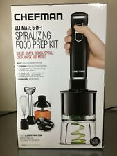 CHEFMAN ULTIMATE 6-IN-1  SPIRALIZING FOOD PREP KIT  RJ19-V2SBP BLACK BRAND NEW!