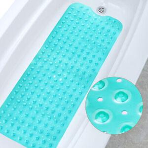 Extra Long Bath Tub Mat Non Slip Bathroom Shower Blue Bathtub Antibacterial