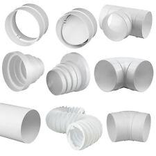 Rundrohrsystem -PVC Lüftungsrohr Bindeglieder Kniestück T-Stück Reduktion Halter