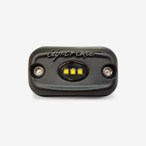 LIGHTFORCE ROK9 LED WORKLAMP FLOOD BEAM 10-30V 9 Watt 3 LEDs BLK HSNG CBROK9
