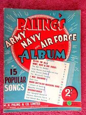 PALING'S  ARMY  NAVY  AND  AIR  FORCE  ALBUM   VINTAGE SHEET  MUSIC