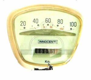 5 x Lambretta Li Series 3 100 KM Complete Speedometer Italian Thread With Bulb