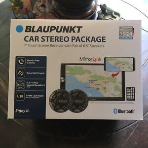 """BLAUPUNKT BALTIMORE 650BD 7"""" TOUCH SCREEN CAR STEREO SYSTEM W 6.5"""" SPEAKERS"""