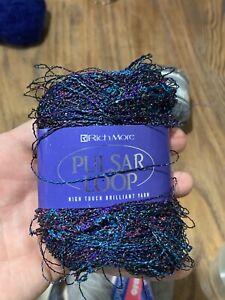 RichMore Pulsar Loop Wool 25g Yarn Hamanaka Tokyo Japan Fancy Acrylic Metallic