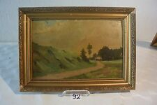 C92 Ancienne peinture Balade en campagne