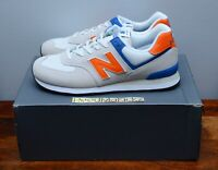 New Balance 574 Classics Nimbus Cloud White Orange Mens ML574SMG