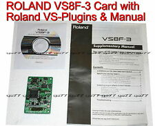 ROLAND VS8F-3  VS-2480 CD 2000 2400 1824 VS8F3 with Setup CD & Roland VS Plugins