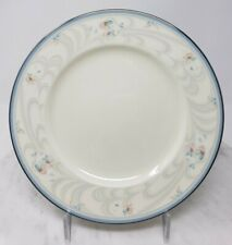 Noritake 9735 Evermore Salad Plates Floral Band Blue Gray Pink Lot of 4