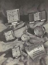 vintage 1948 print ad LOOPING S.A. Swiss Suisse watch clock  MID CENTURY ART