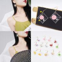 Novelty Bag Shape Resin Fruit Dangle Drop Hook Charm Pendant Girl Women Earrings