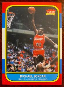 1986-87 Fleer Michael Jordan Rookie card RP MINT