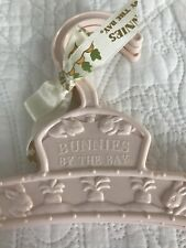 Bunnies By The Bay Plastic Baby Clothes Keepsake Hangers Cream Pink New