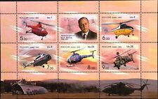 Russia rusia 2009 bloque 123 helicópteros m. mil diseñador Helicopters mnh