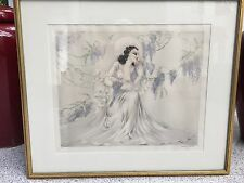 Louis Icart Original Etching Wisteria Framed W/ Windmill Seal