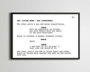 "BATMAN (1989) Screenplay POSTER! (up to 24"" x 36"") - Joker - Jack Nicholson"