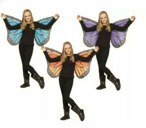 Butterfly Wings Soft Silky Fabric Child Costume One Size, ORANGE