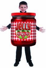 Jelly Jam Jar Child Halloween Costume Food Funny Strawberry One Size Tunic