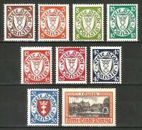 DR Danzig Nazi Reich Rare WW2 Stamp 1938 Danzig Castles Service Official Classic