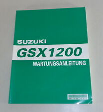 Werkstatthandbuch Suzuki GSX 1200 Stand 04/1999