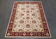 CHINESE,TRADITIONAL, FLORAL RUG, 227 x 162CM,BURGUNDY/RED, IVORY,GREEN,