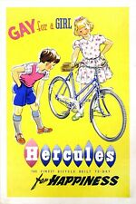 Hercules Gay for a Girl British cycling poster rustic wall decor