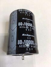 Capacitor Rubycon 10000UF 80V Electrolytic 10000mfd 10,000UF 105C temp  1 pc