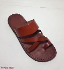 Sandals Brown Leather Flip-Flops Handmade Jerusalem Jesus Original product