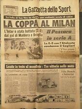 GAZZETTA DELLO SPORT Lunedì 04/07 1977 ⚽🏆 LA COPPA AL MILAN  🟥⬛ Inter battuta