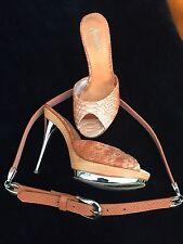 MARCIANO orange pip-toe snake skin , golden heels,s.5,5 / 6. + matching belt