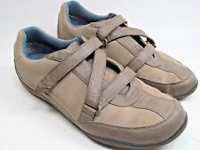 Orthaheel Bartlett Orthotic Criss-Cross Shoes Womens Size 9.5 Brown Beige