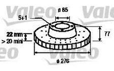 VALEO Juego de 2 discos freno Antes 276mm ventilado VOLKSWAGEN LT 186774