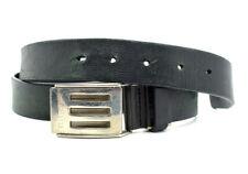 Elle Homme Mens Leather Belt Black Size 38