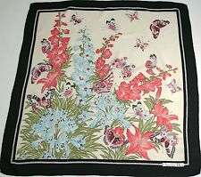 Christian Dior vintage silk scarf - Summer floral print - Large