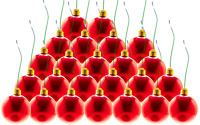 """Red Christmas Ball Ornaments Hanging Tree Decorations Plastic Set of 24-2/"""""""