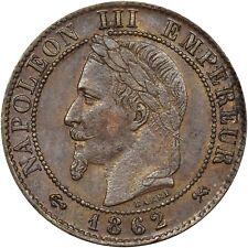 1862 A NAPOLEON III FRANCE 2 CENTIMES EMPIRE FRANÇAIS AU!