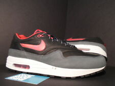 2005 Nike Air Max 1 PREMIUM EVOLUTION HOA LEATHER BLACK RED GREY 312748-061 11.5