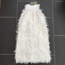 MAMAS AND PAPAS BABY 100% SILK LONG CHRISTENING GOWN DRESS 3-6 MONTHS NEW £150
