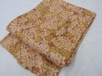 Pinkish Brown Silk Japanese HAORI w/Flowers J762