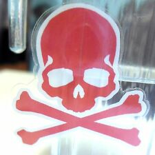 RED SKULL TOXIC CUTE devil Transparent Sticker Skateboard Guitar Vinyl Decal