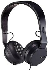 House of Marley Roar On-Ear Black Wired Headphones with 1 Button Microphone