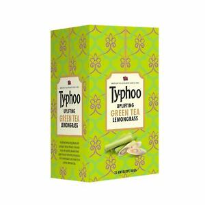 Typhoo Uplifting 25Pcs Green Tea Bags WithLemon Grass Flavour For A Perfect Tea