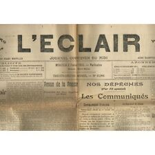 L'ÉCLAIR 2-2-1916 Football BESSÈGES 5 MOLIÈRES 3 - FLASSAN G. ARNAUD P. BÉNISTAN