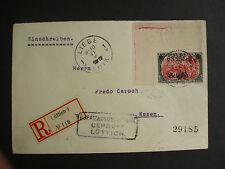 1916, 6 F. 25 C. auf 5 M., grünschwarz/rosarot, der Höchstwert aus der linken ob