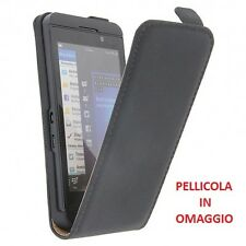 CUSTODIA PORTACELLULARE FLIP CASE EXCLUSIVE + PELLICOLA per HTC SALSA NERO