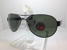 AUTHENTIC RAYBAN  RB 3509 004/9A RAY BAN RB3509 004/9A 63MM GUN/GREEN POLARIZED
