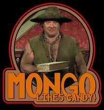 "70's Comedy Classic Blazing Saddles ""Mongo Likes Candy!"" custom tee Any Size"