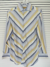 Men's Business Dress Shirt Long Sleeve - Yellow, Blues Khaki & White (Item#120)