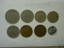SOUTH KOREA 8 different COINS