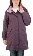 Womens Size 20 22 24 Fleece Lined Plum Long Jacket Coat Weatherproof  *LICK*