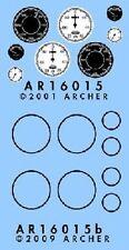 Archer 1/16 King Tiger Instruments & Bezels fine transfer (Trumpeter) 16015 x